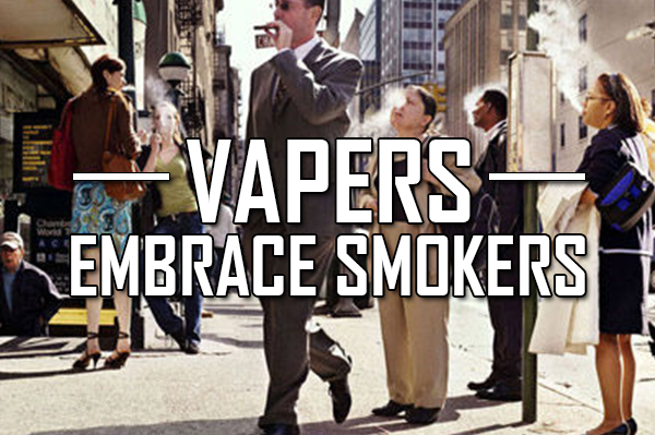 vapers embrace smokers