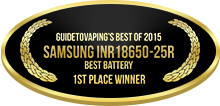 1st Place - Best Battery - Samsung INR18650-25R