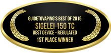 1st Place - Best Device - Regulated - Sigelei 150 TC