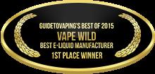 1st Place - Best E-Liquid Manufacturer - Vape Wild