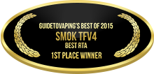 1st Place - Best RTA - Smok TFV4