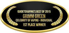 1st Place - Celebrity of Vaping - Individual - Grimm Green