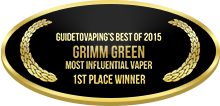 1st Place - Most Influential Vaper - Individual - Grimm Green