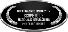 2nd Place - Best E-Liquid Manufacturer - Scope Juice