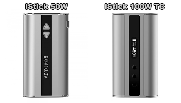istick 50w - 100w tc comparison