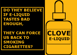 why ban flavors in e-liquids: cloves