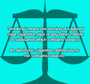 Vaping Is Not Smoking Definition