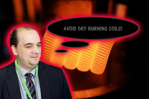 avoid dry burning coils