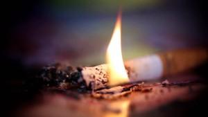 cigarette on fire