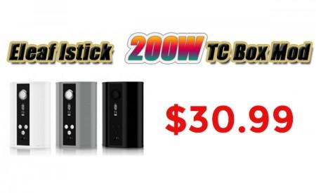 New Eleaf iStick 200W TC Box Mod $30.99