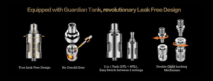 The Vaporesso Mini Target Kit: Guardian tank official