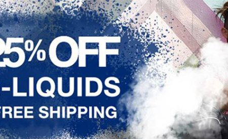 HOT SALE – 25% Off E-Liquids and Free Shipping
