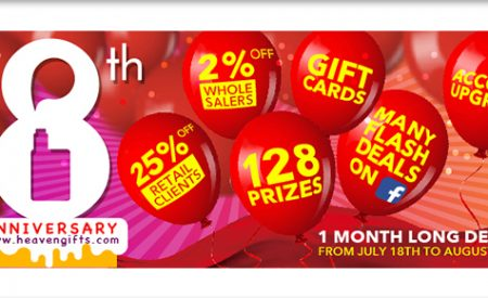 Heaven Gifts Celebrates 8 Years With Big Sale