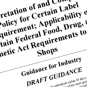 fda draft guidance for vape shops