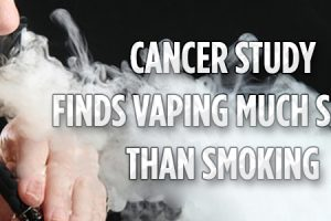 vaping safer than smoking cancer study