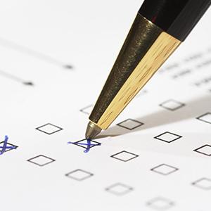 taking survey