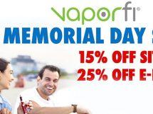 VaporFi Memorial Day