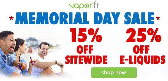 VaporFi Memorial Day Sale