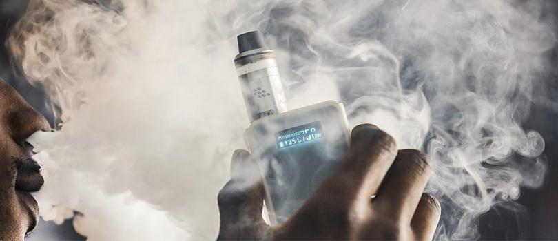 blowing vapor