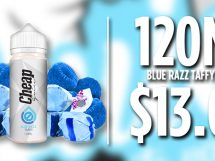 cheap ejuice blue razzy taffy deal