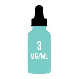 3mg nicotine strength e-liquid