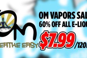 om vapors 60 off sale