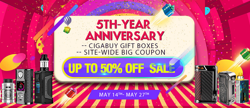 Cigabuy 5-Year Anniversary Sale