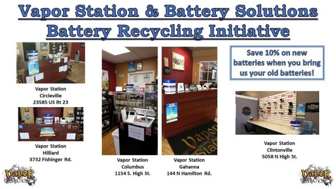 Vapor Station Battery Recycling