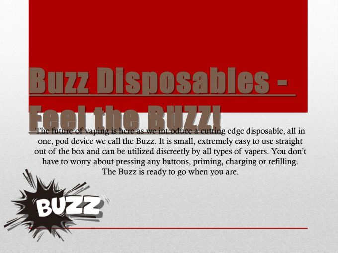 buzz disposable marketing
