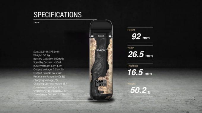SMOK Novo X Kit Specs