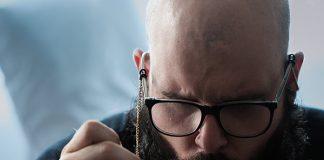 man using dab rig